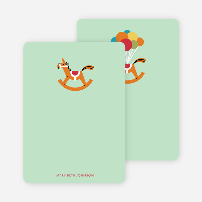 Rocking Horse Kids Stationery - Green