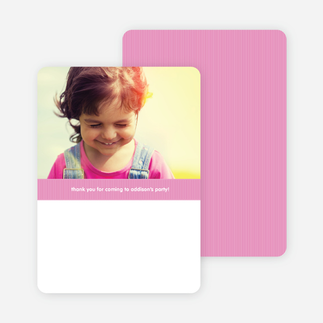 Modern Photo Thank You Card - Cotton Candy