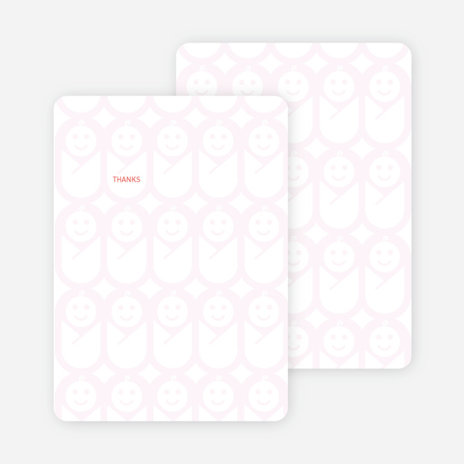 Stationery: 'Swaddle Me This' cards. - Lavender