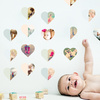 Hearts Abound: 16 Photo Wall Stickers - Beige