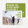 Live Laugh Love Valentine's Day Cards - Green