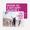 Live Laugh Love Valentine's Day Cards - Purple