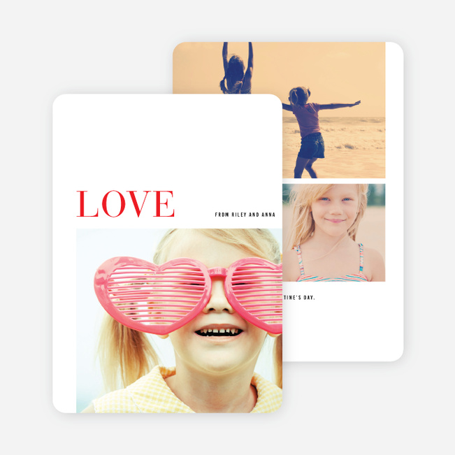 Simple Love Valentine's Day Cards - Red