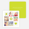 Tic Tac Toe Valentine's Day Cards - Green