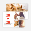 X's and O's Photo Valentine's Day Cards - Red