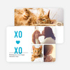 X's and O's Photo Valentine's Day Cards - Blue