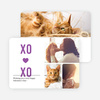 X's and O's Photo Valentine's Day Cards - Purple
