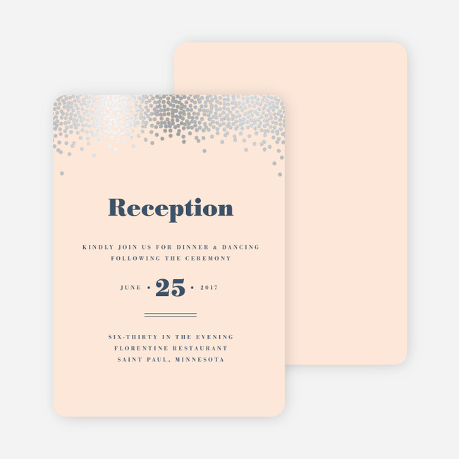 Confetti of Joy Wedding Reception Cards - Pink