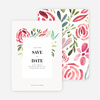 Floral Water Colors Wedding Save the Date Cards - Red
