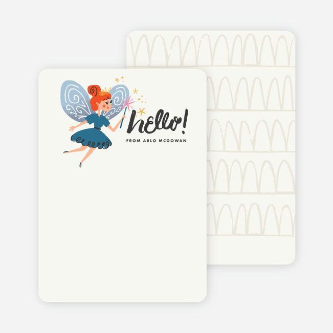 Hello Fairy Kids Stationery - Beige