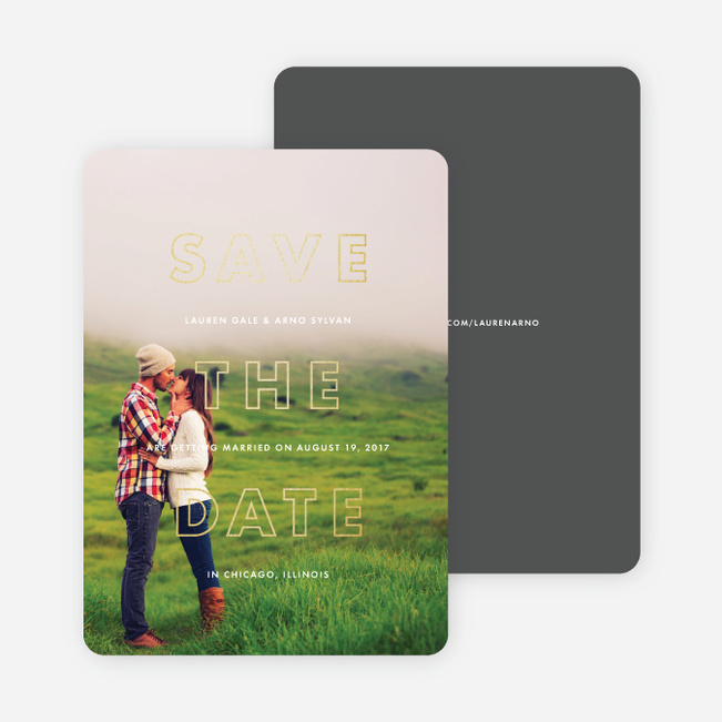 Hexagon Bliss Save the Dates - White