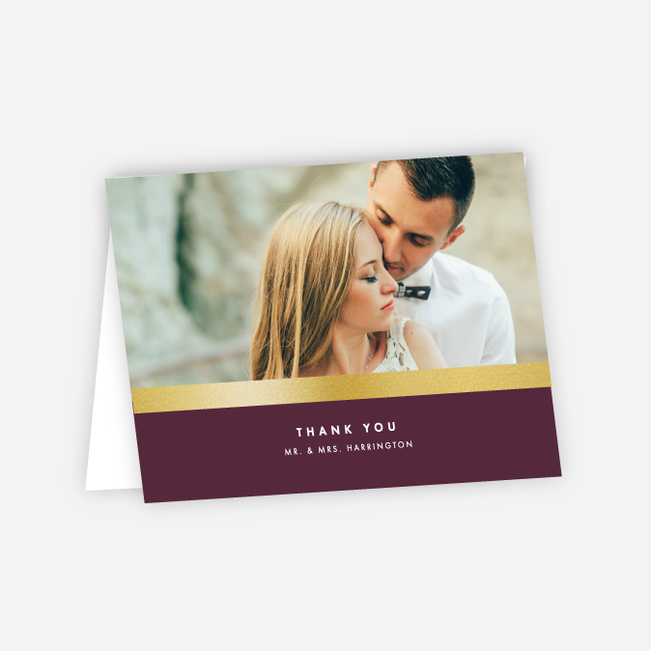 Wedding Frame of Mind Wedding Thank You Cards - Purple