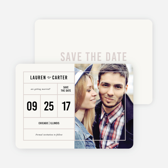 It's a Date Save the Dates - Beige
