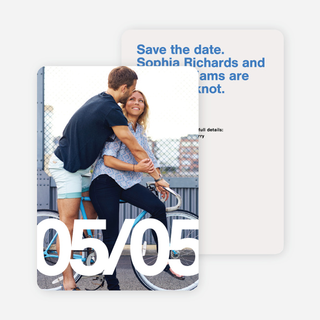Fortune Favors the Bold Save the Dates - Blue