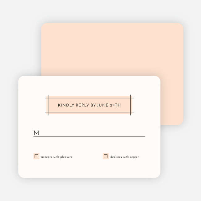 Simple Lines Wedding Response Cards - Pink