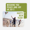Big Wishes New Year Cards - Green