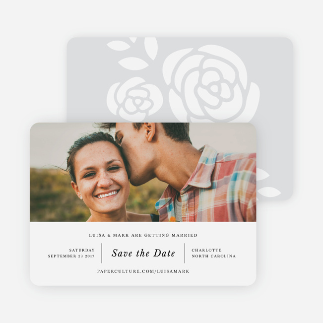 Coming Up Roses Save the Dates - Black