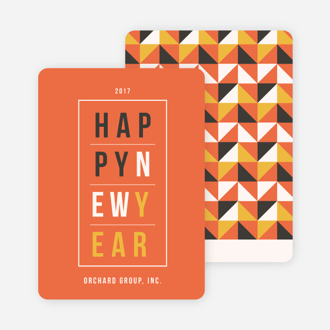 geometric modern triangles new year cards paper culture