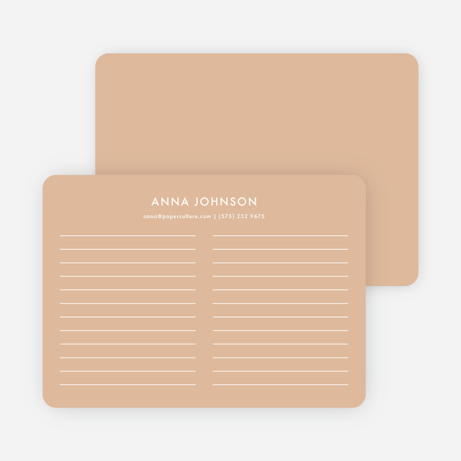 Line Up Note Cards - Orange