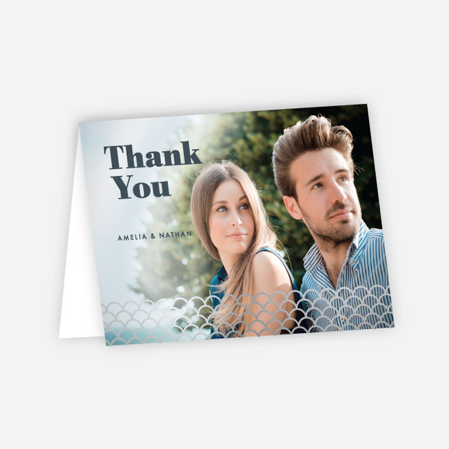 Making Waves Wedding Thank You Cards - Gray
