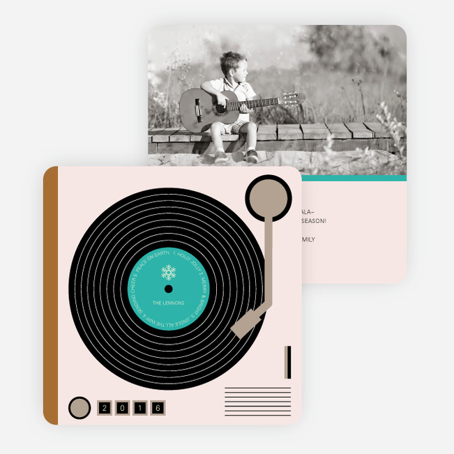 Turntable Holiday Cards - Blue