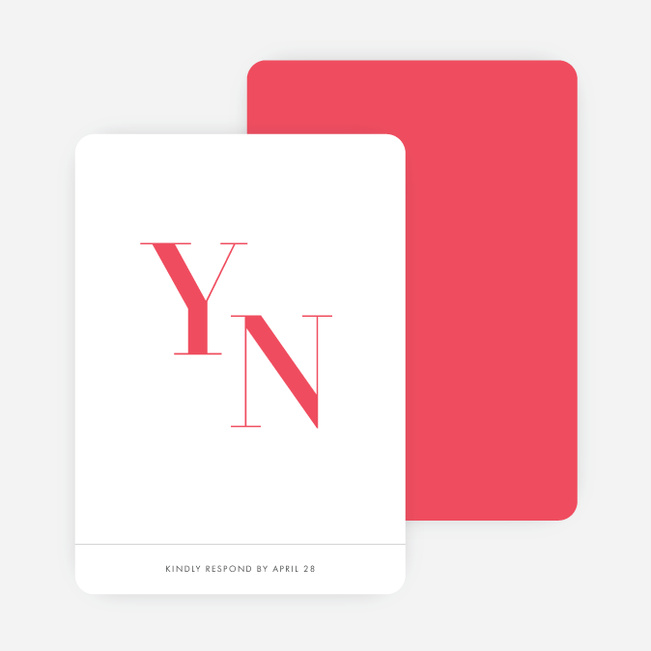 Ampersand Wedding Response Cards - Red