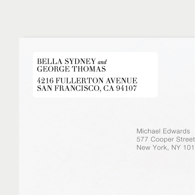 wedding return address labels paper culture
