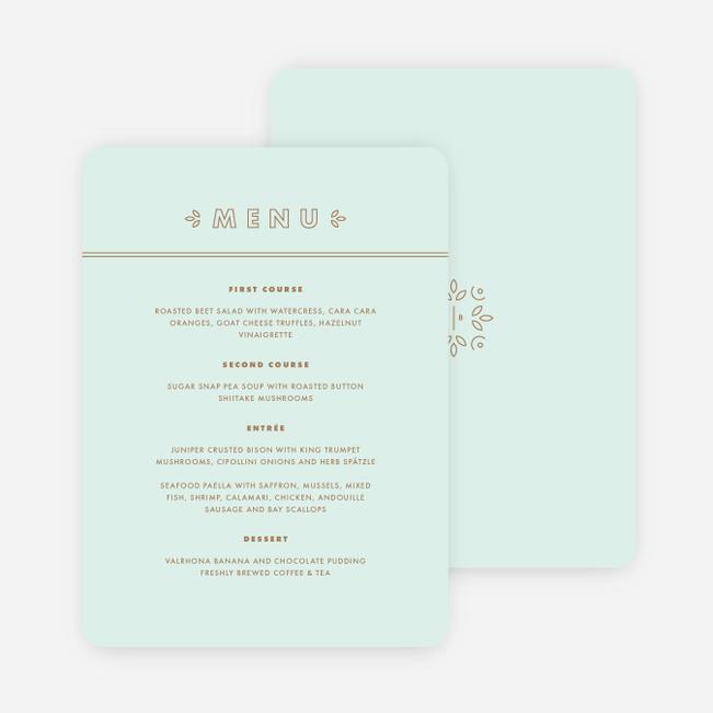 Chic floral wedding menus paper culture junglespirit Images