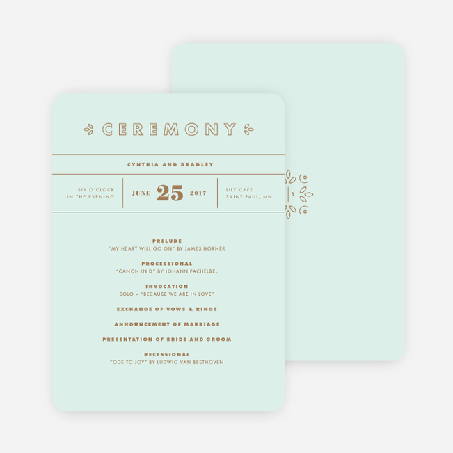Chic Floral Wedding Programs - Blue