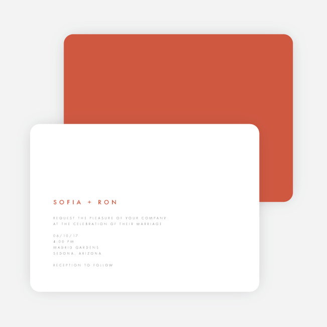 Color Pop Wedding Invitations - Red
