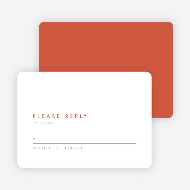 Color Pop Wedding Response Cards - Red
