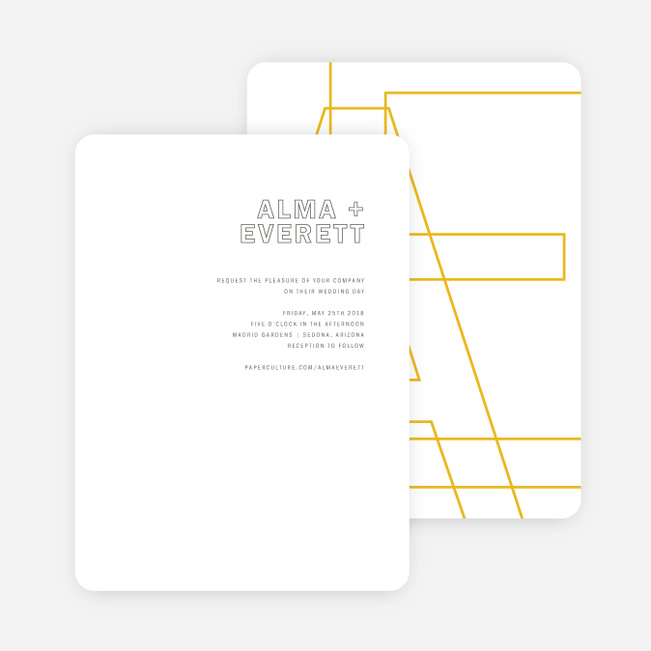 Color Up Wedding Invitations - Yellow