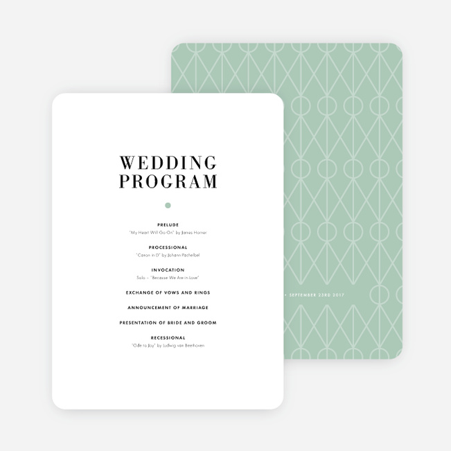 Converging Paths Wedding Programs - Green