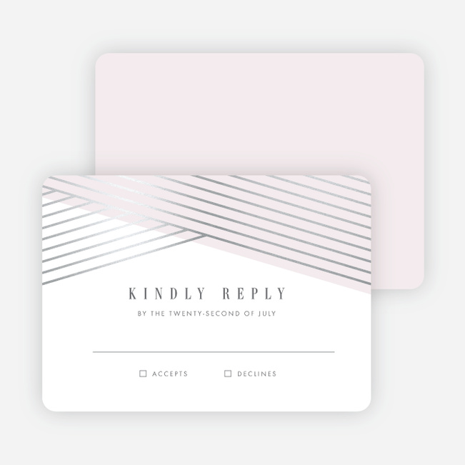 Diagonal Chic Wedding Response Cards - Pink