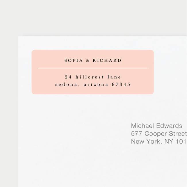 Return Address Labels  Paper Culture
