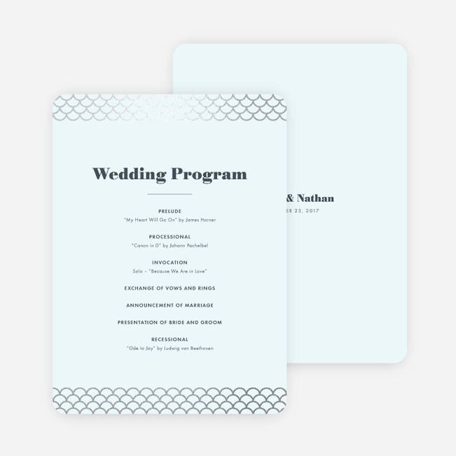 Wedding Programs  Paper Culture