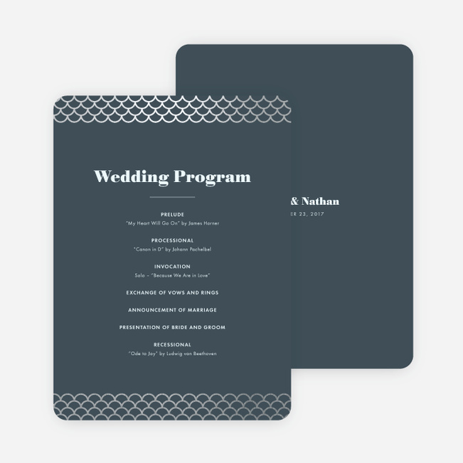 making waves wedding programs paper culture