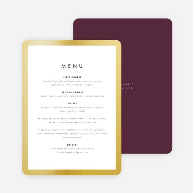 Wedding frame of mind wedding menus paper culture junglespirit Images