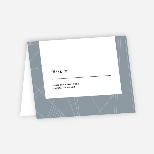 Label It Wedding Thank You Cards - Blue