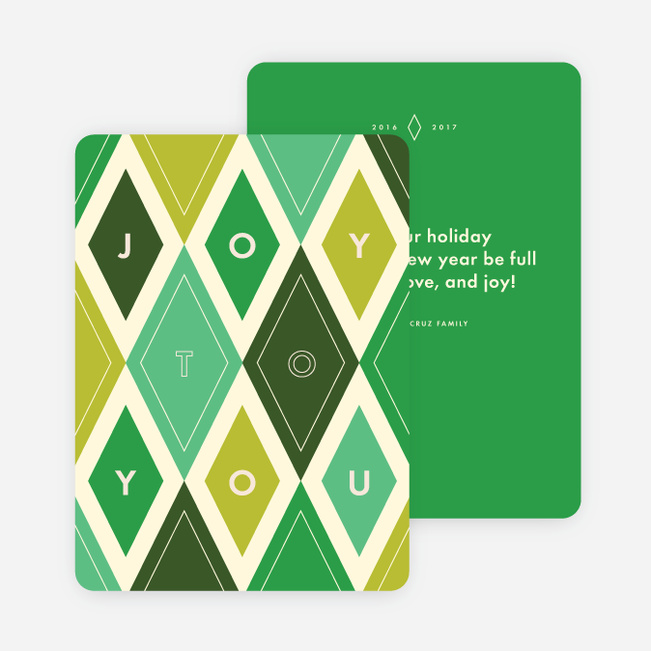 Joy to You Holiday Cards - Green