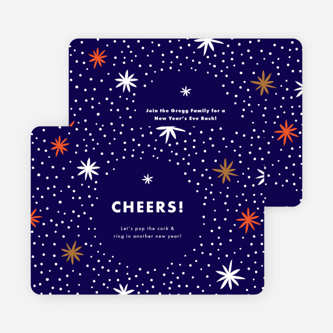 Fireworks Celebration Holiday Invitations - Blue