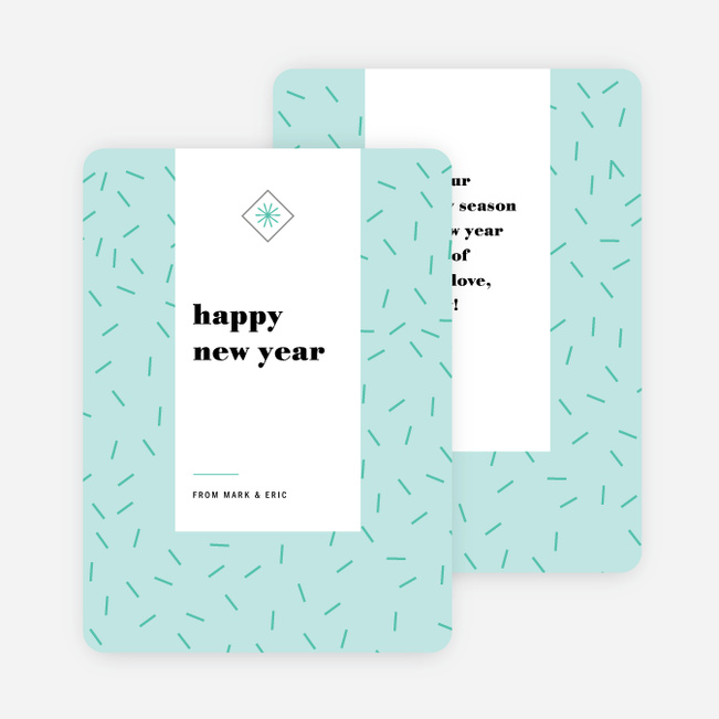 Sprinkle Burst New Year Cards - Blue