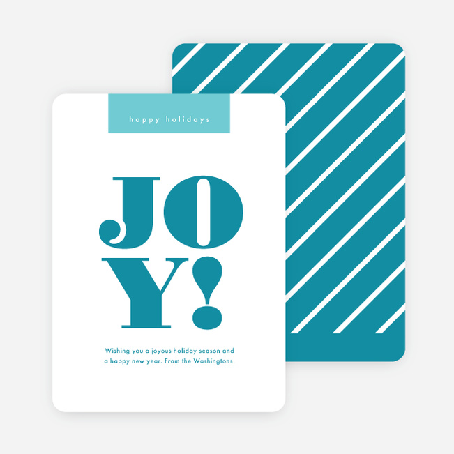 Candy Cane Joy Christmas Cards - Blue