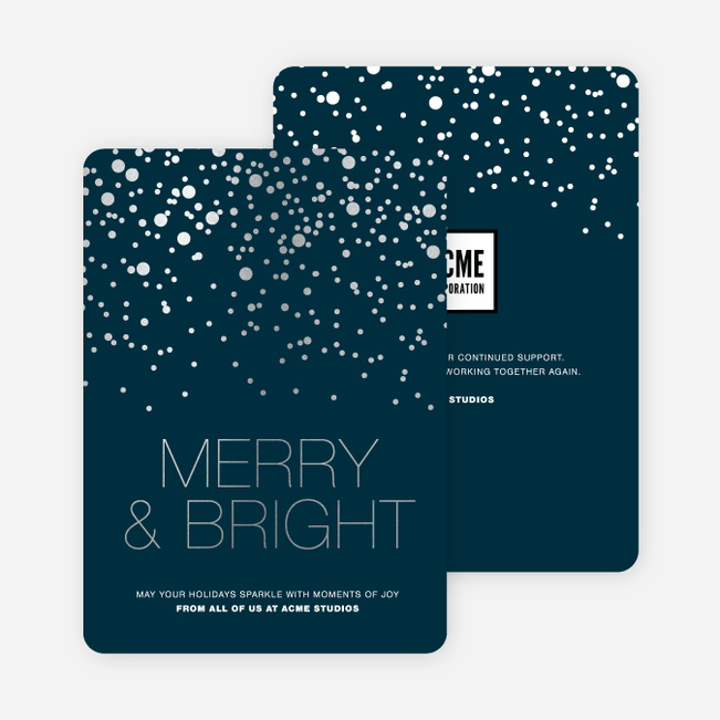 Business holiday cards corporate holiday cards paper culture foil dot patterns reheart Images