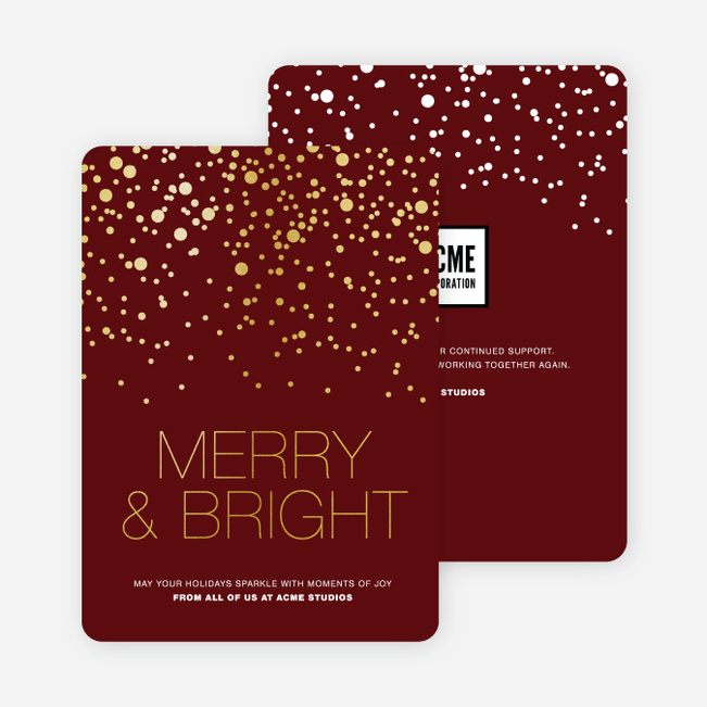 non photo holiday cards paper culture - Business Holiday Cards With Logo