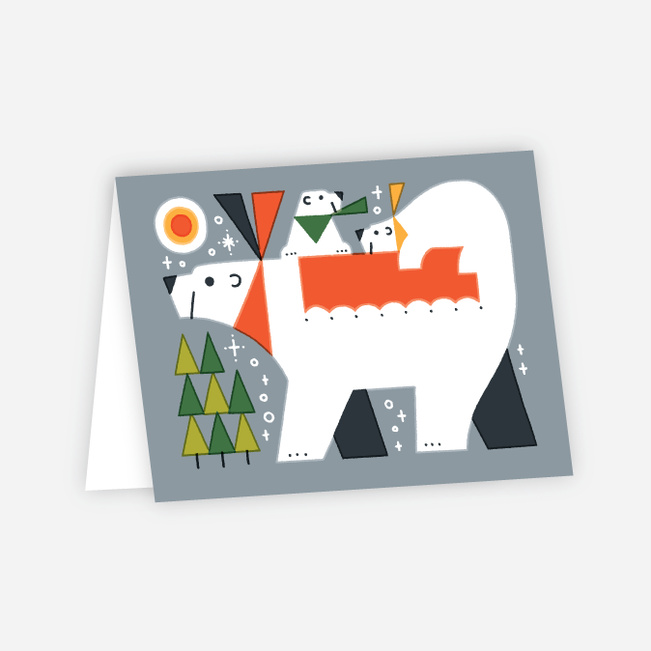 Vintage Bear Holiday Cards - Multi