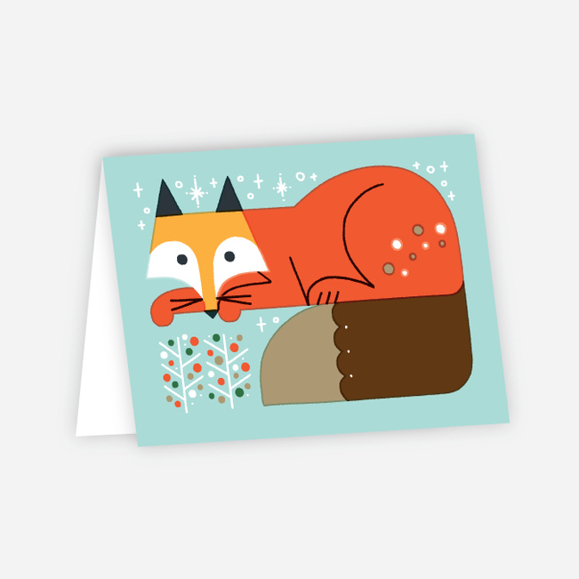 Vintage Fox Holiday Cards - Multi