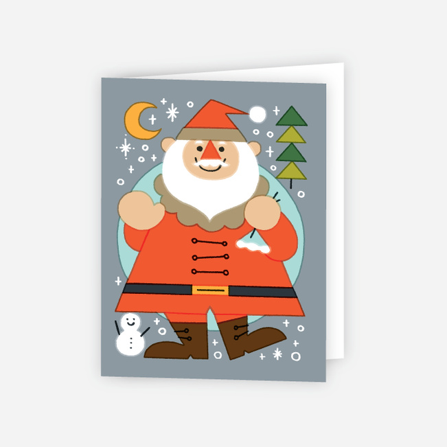 Vintage Santa Christmas Cards - Multi