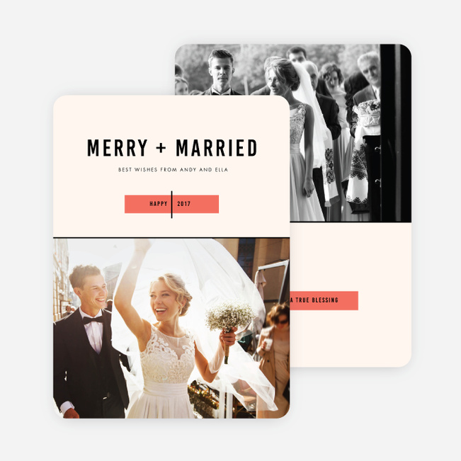 Wedding Bliss Holiday Cards - Red