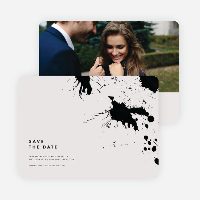 Brush Splash Save The Dates - Beige
